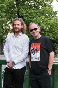 Die Künstler bei der Vernissage von Kunst im Heizhaus am 4.7. im Fischauer Thermalbad.